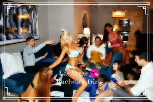 Girls giving a great bachelor party